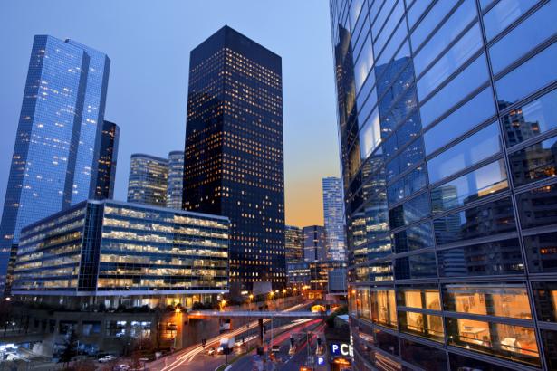 Фотообои небоскрёбы стекло (city-0001131)