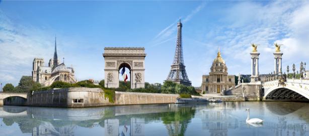 Фотообои композиция коллаж Париж (city-0001285)