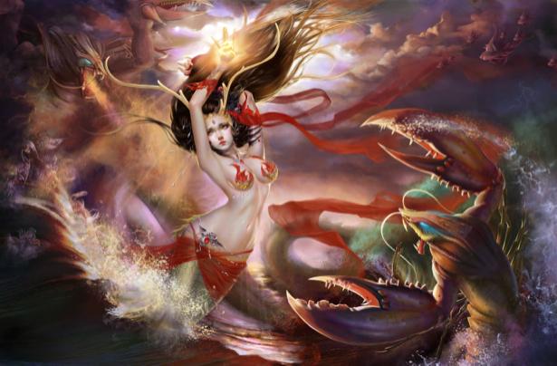 Фотообои фентезийные герои (fantasy-0000023)