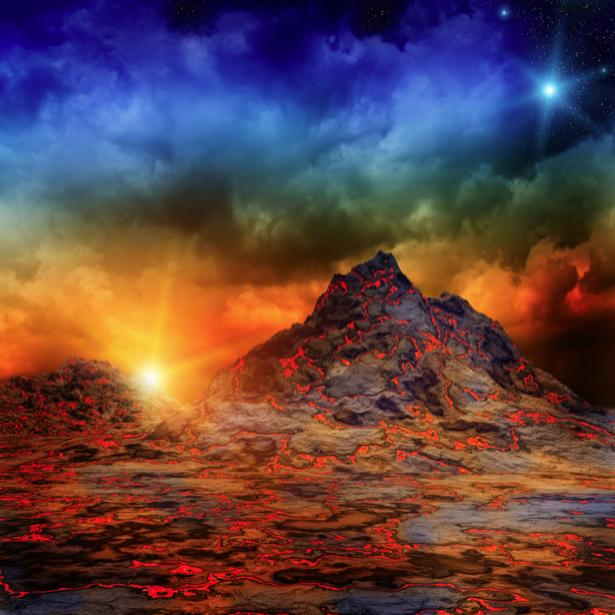 Фотообои лава гора (fantasy-0000122)