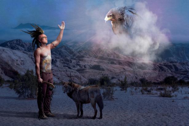 Фотообои Индейцы (fantasy-0000136)