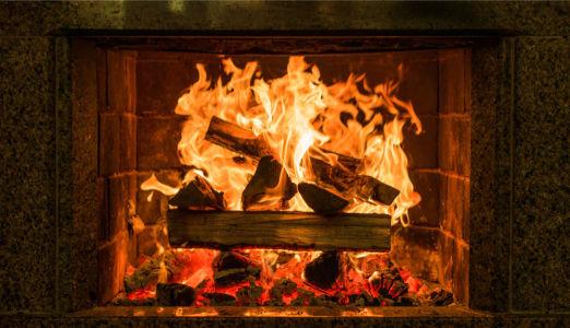 Фотообои каминный портал (fire-012)