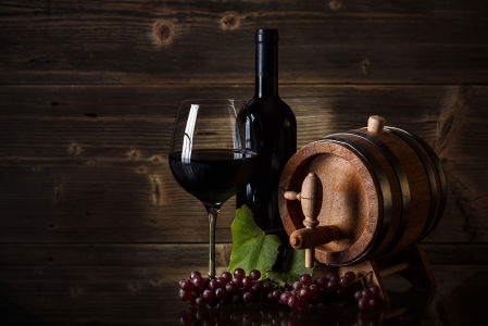 Фотообои Вино из красного винограда (food-373)