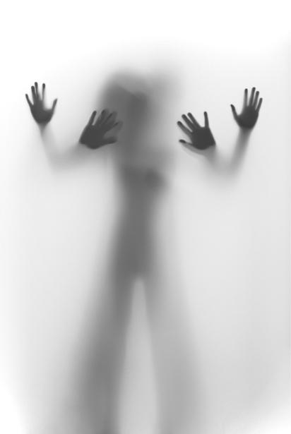 Фотообои тень фигуры контражур (glamour-0000150)