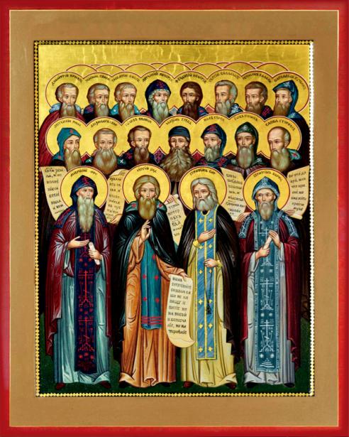 Икона святых старцев (icon-00095)