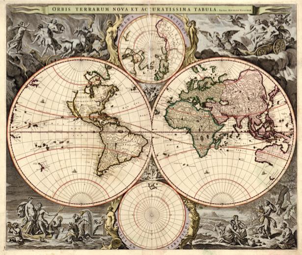 география, карты, старая карта (map-0000046)