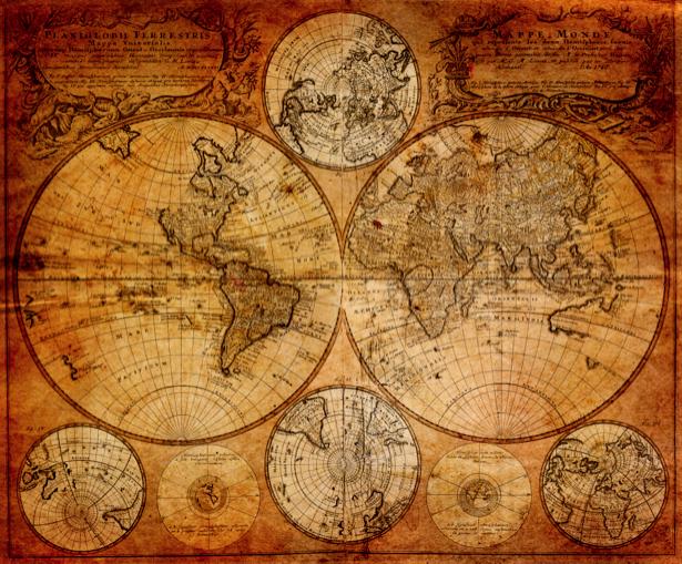 Фотообои карта старая 1746 год (map-0000173)