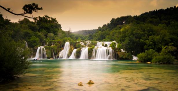 Фотообои природа горный водопад (nature-00375)