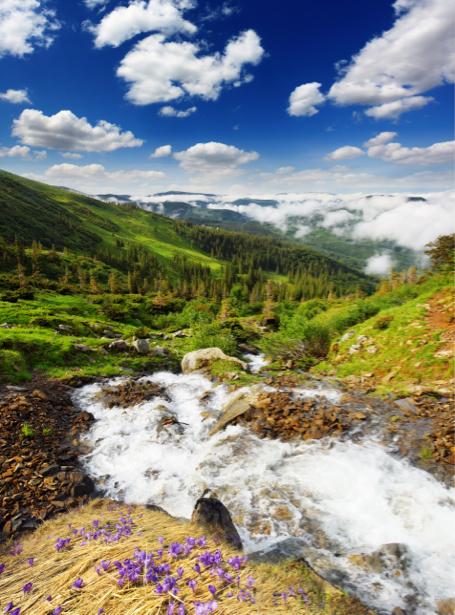 Фотообои ландшафт горы, река (nature-00506)