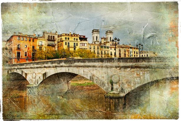 Фотообои  город Европа замок (retro-vintage-0000132)