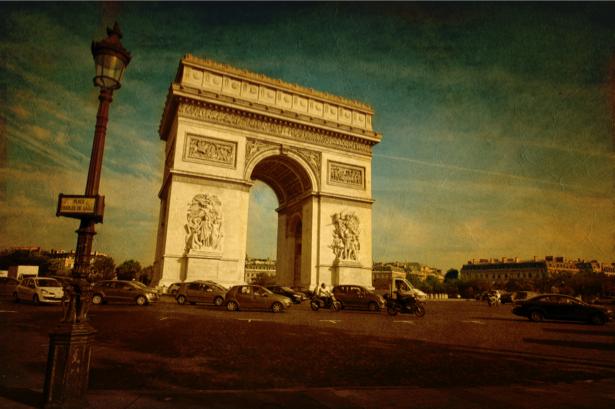 Фотообои ворота Франция (retro-vintage-0000180)