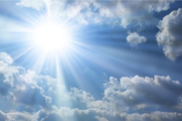 Фотообои облака лучи ясное небо (sky-0000036)