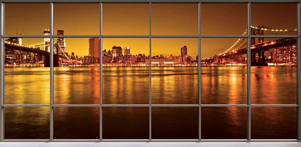 Фотообои Мосты Нью-Йорка (win-30)