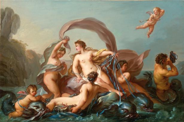 Картина Рождение Венеры фреска обои (angel-00025)