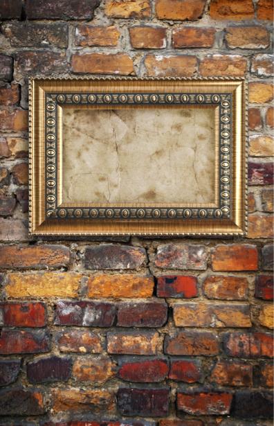 Фотообои рама на стене (background-0000110)
