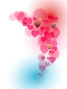 Фотообои фон из сердец прозрачных (background-0000370)