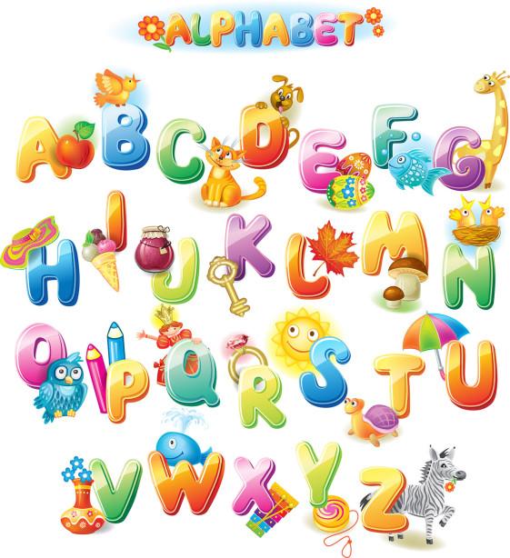 Фотообои Английский алфавит в картинках (child-427)