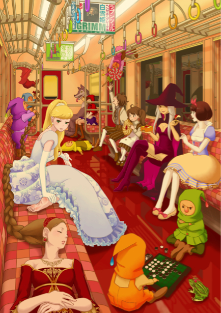 Фотообои Красная Шапочка фан-арт (children-0000058)