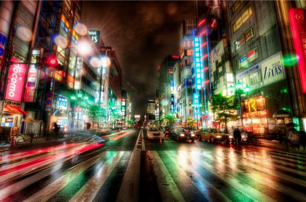 Фотообои Нью-Йорк, город, дорога, ночь (city-0000335)