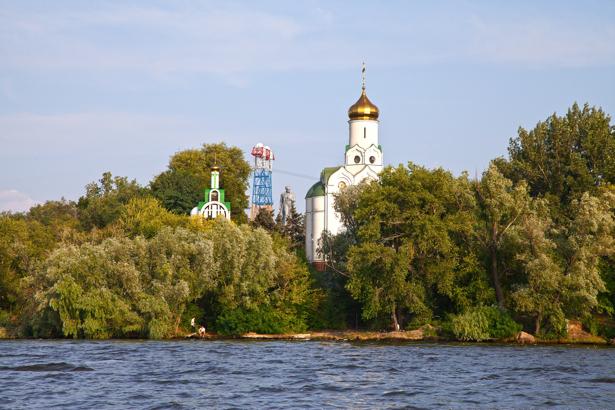 Фотообои Днепропетровск церьковь на Днепре (city-0000887)
