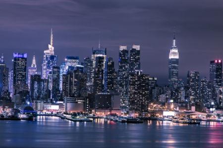 Фотообои ночной манхеттен (city-0001024)