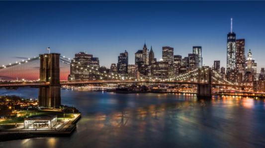 Бруклинский мост фотообои Нью-Йорк США (city-0001338)