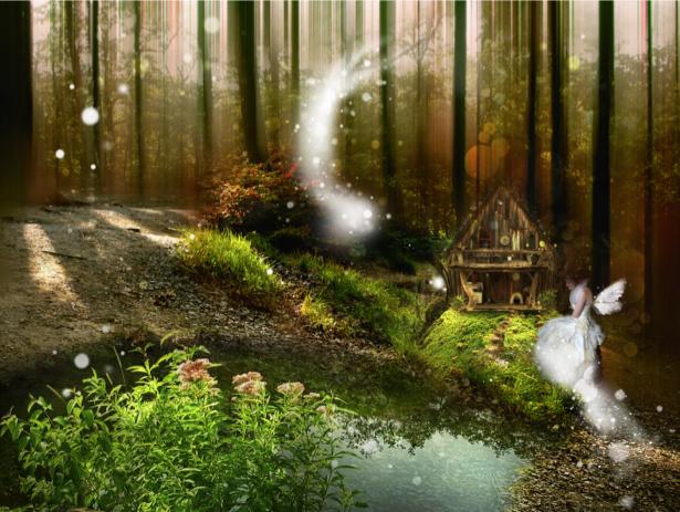 Фотообои фентезийный сказочный лес (fantasy-0000107)