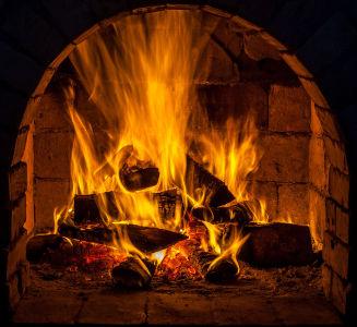 Фотообои Огонь в камине (fire-023)