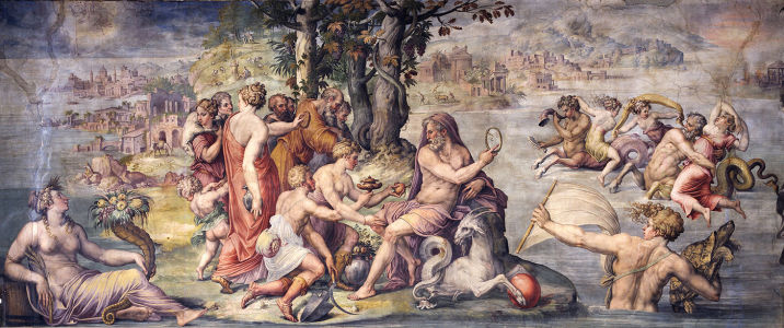 Фотообои Первые плоды от земли, предлагаемые Сатурну (fresco-005)