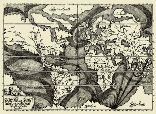 атлас, география, карты, старая карта (map-0000136)