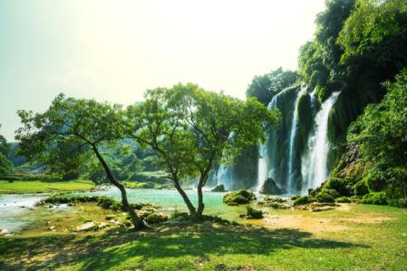 Фотообои водопад полдень (nature-0000825)