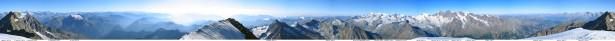 Фотообои панорама горных вершин (nature-00361)