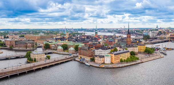 Фотообои Старый город в Стокгольме (panorama-57)