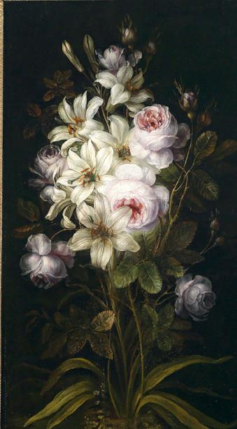 Картина лилии и розы (pf-145)