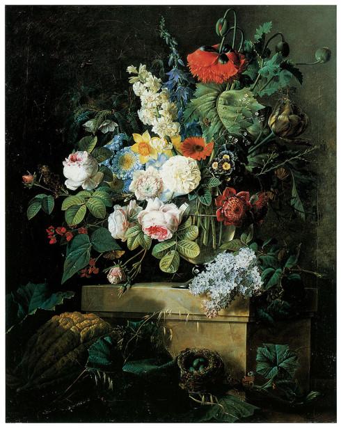 цветы в вазе, натюрморт  Пьер-Жозеф Редут (pf-92)