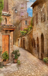 Фотообои французская улица (printmaking-0000142)