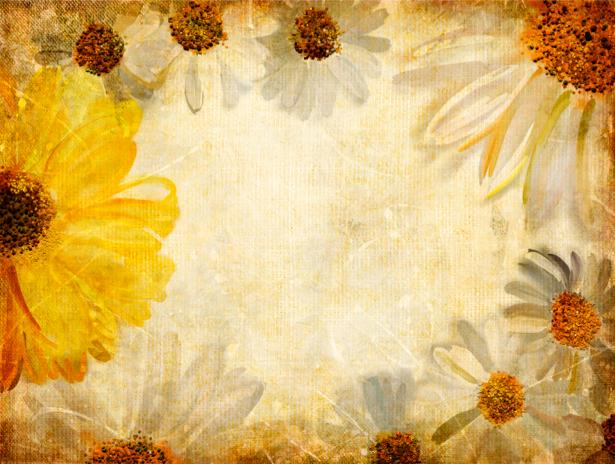 Фото обои винтажные цветы фон (retro-vintage-0000054)