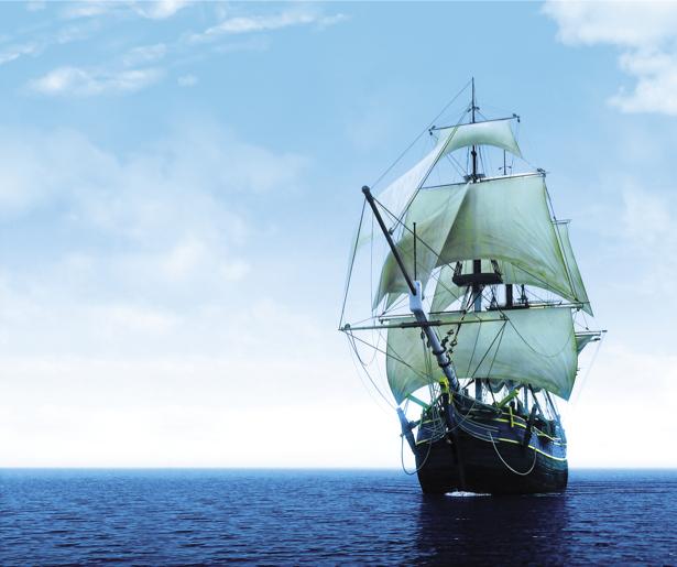 Фотообои старый парусник в море (transport-0000052)