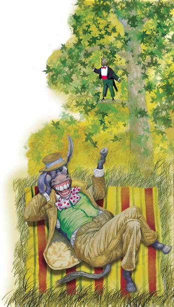 иллюстрации к произведению Л. Глибова - Осел и соловей (ukraine-0166)