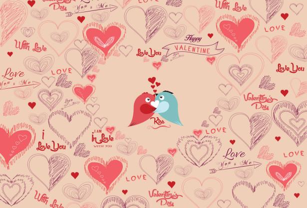 Скатерть I love you (0191)