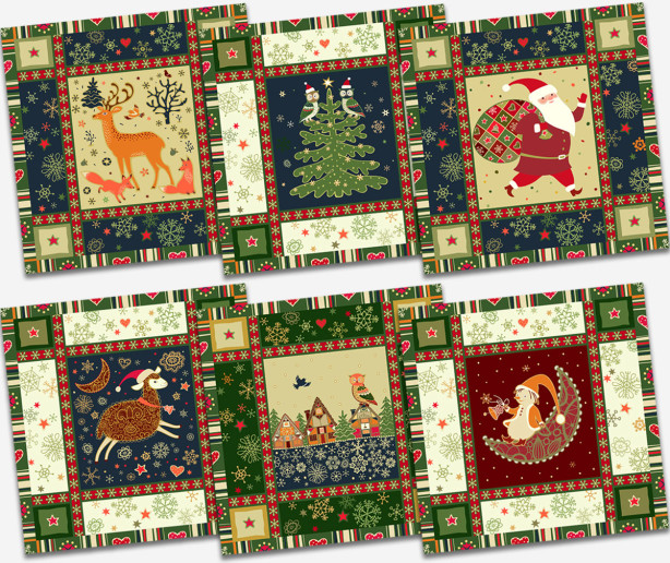 Салфетки Новогодняя мозаика 6 шт (202-01)