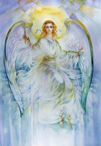 Обои фреска Ангел с крыльями (angel-00057)