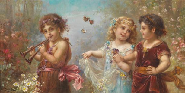 Фото обои фреска Весна жизни (angel-00071)