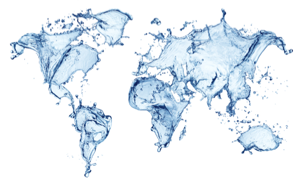 Фотообои водная карта мира (background-0000215)