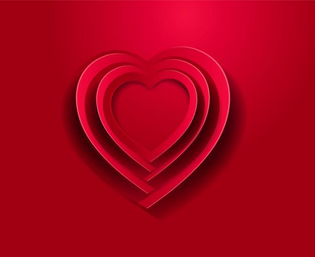 Фотообои сердце любви красное (background-0000354)