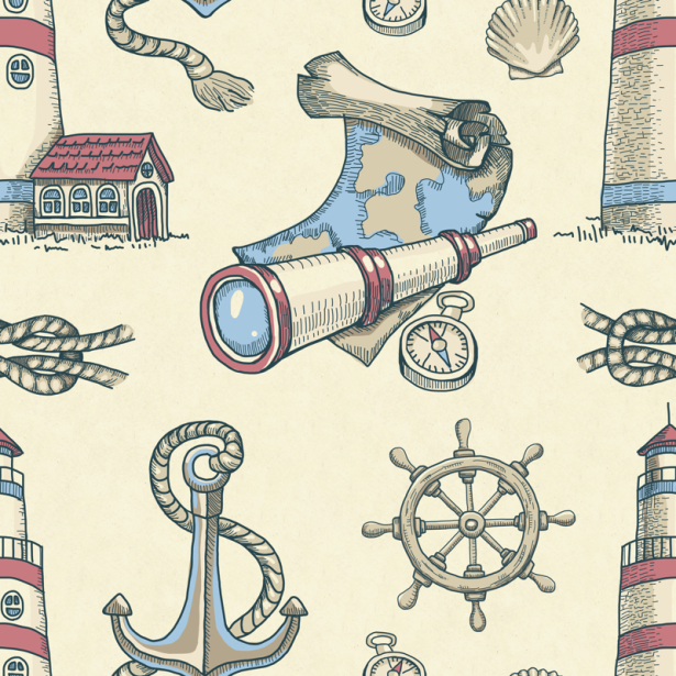 Фотошторы морские (children-curtain-00032)
