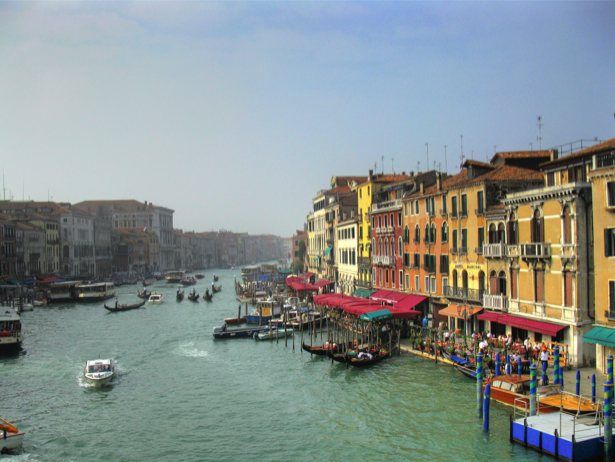 Фотообои канал в Венеции, Венеция, Италия (city-0000128)