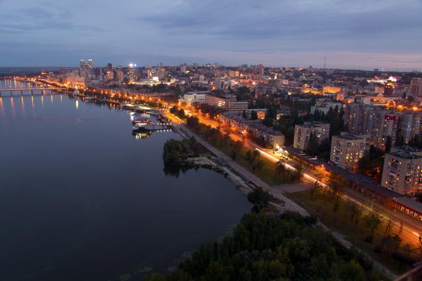 Фотообои Днепропетровск вечерело (city-0000932)