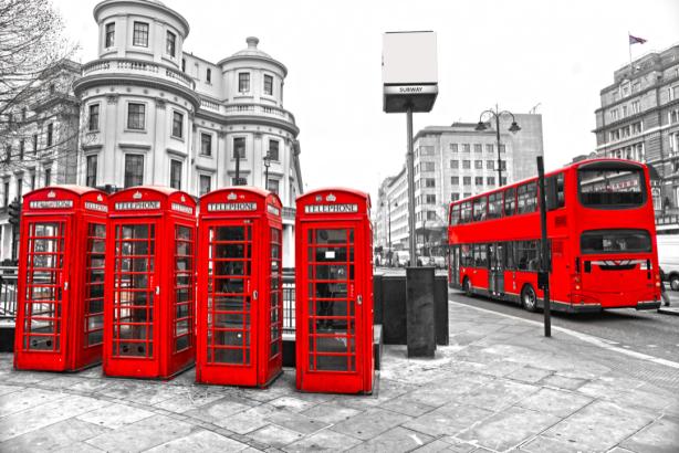 Фотообои Улицы Лондона чб фото (city-0001245)