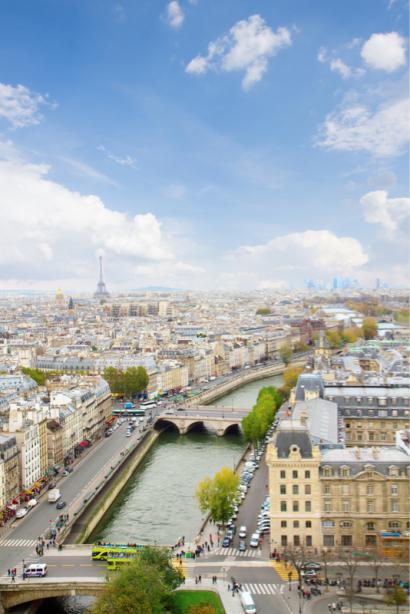 Фотообои Париж Франция вид города (city-0001365)